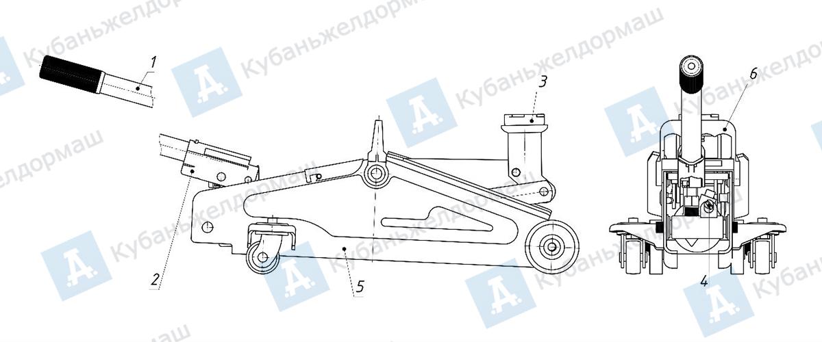чертеж подкатных автомобильных